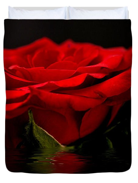 Red Rose Flood Duvet Cover by Steve Purnell