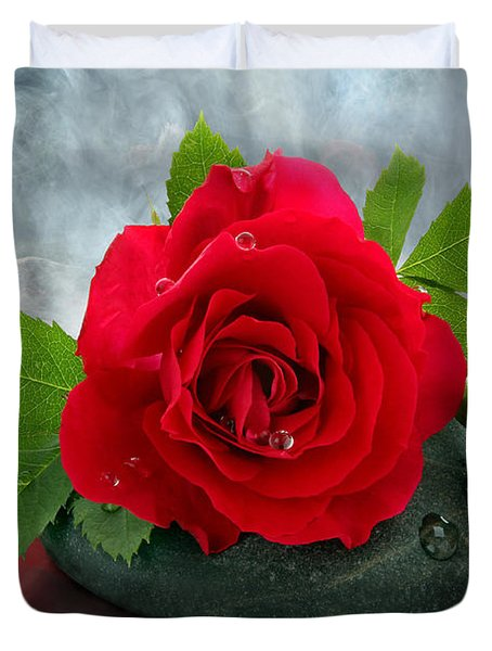 Red Rose Duvet Cover