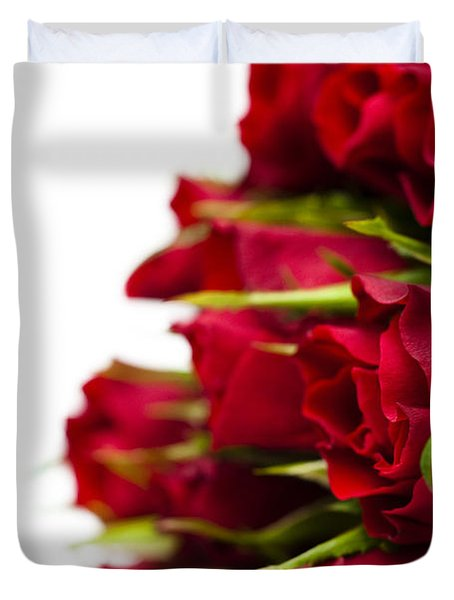 Red Roses Duvet Cover by Anne Gilbert