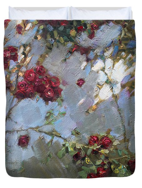 Red Roses Duvet Cover by Ylli Haruni