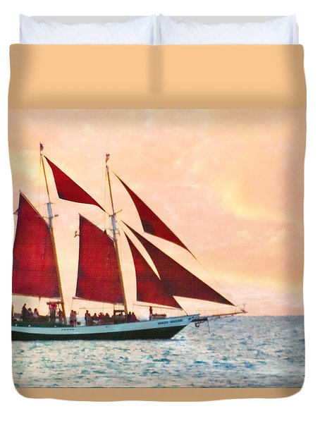 Red Sails Sunset Duvet Cover