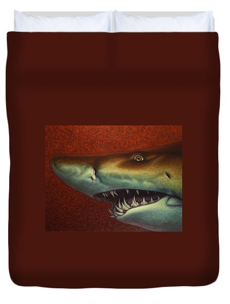 Red Sea Shark Duvet Cover by James W Johnson
