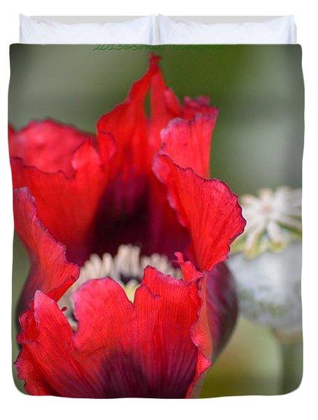 Red Sensation Duvet Cover by Sonali Gangane