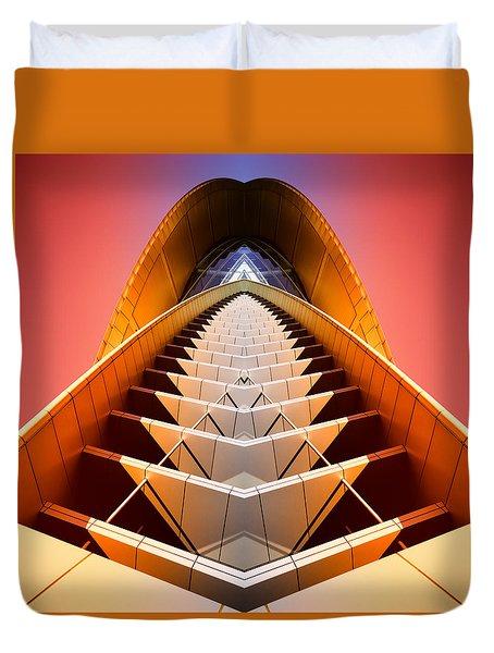 Red Shift Duvet Cover by Wayne Sherriff