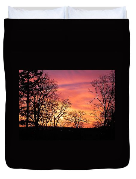 Red Sky At Night Sailor's Delight Duvet Cover