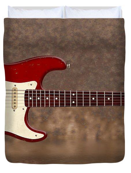 Red Strat 3 Duvet Cover