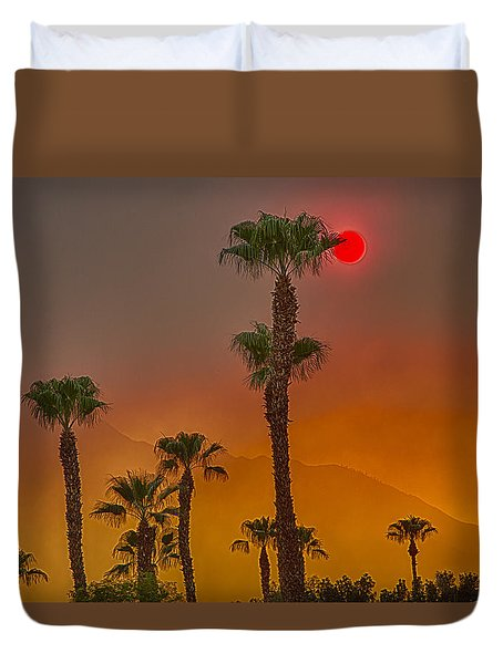 Red Sun Wild Fire Hdr Duvet Cover