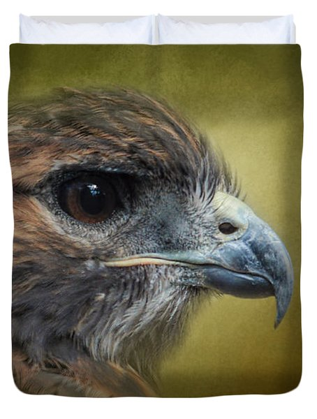 Red Tailed Hawk At Reelfoot Duvet Cover