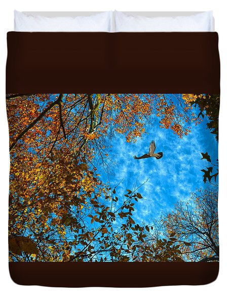 Red-tailed Hawk Duvet Cover by Sandi OReilly