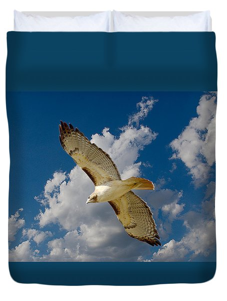 Red-tailed Hawk Soaring Series 5 Duvet Cover