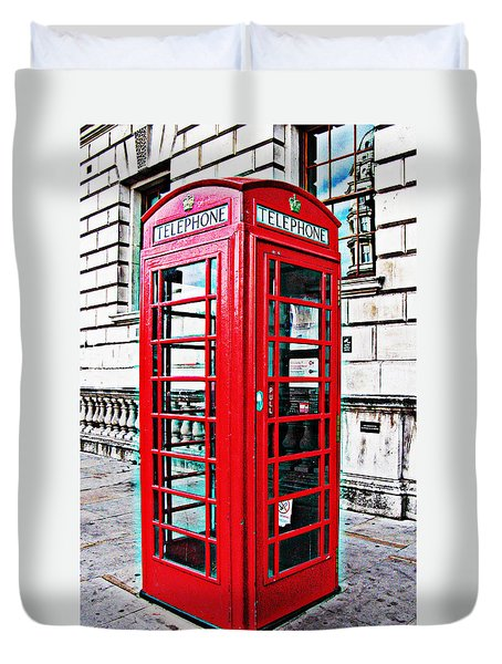 Red Telephone Box Call Box In London Duvet Cover