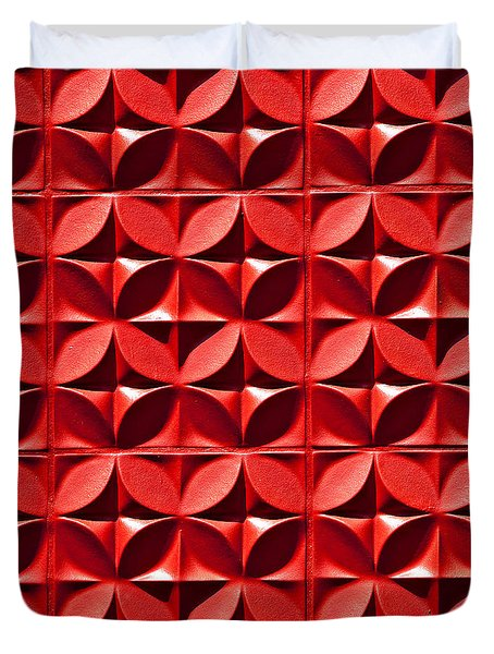 Red Textured Wall Duvet Cover by Art Block Collections