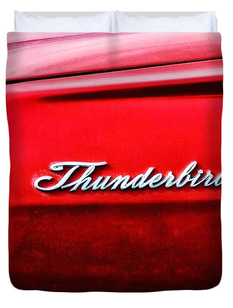 Red Thunderbird Duvet Cover by Bill Cannon