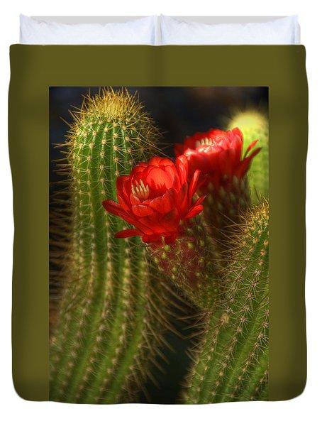Red Torch II  Duvet Cover by Saija  Lehtonen