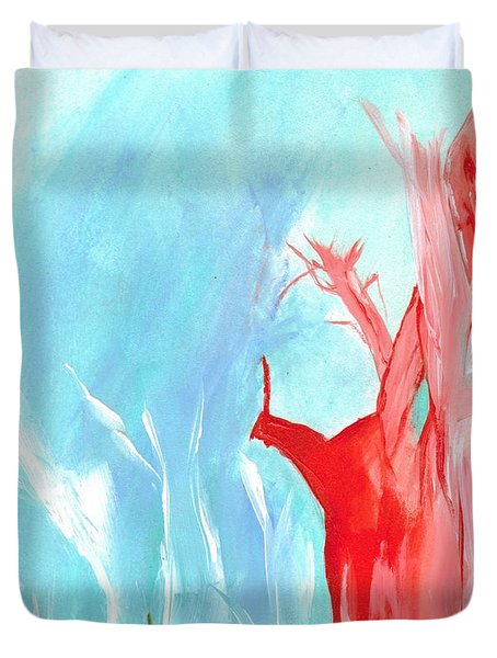 Red Tree Duvet Cover