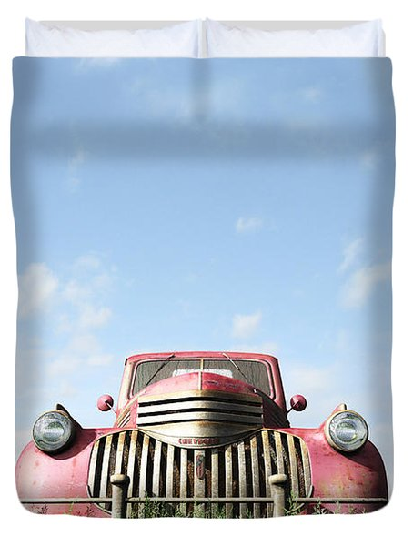 Red Truck Duvet Cover