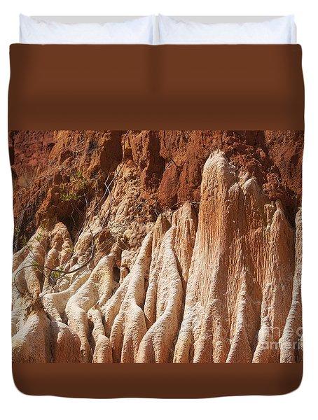 red Tsingy Madagascar Duvet Cover by Rudi Prott