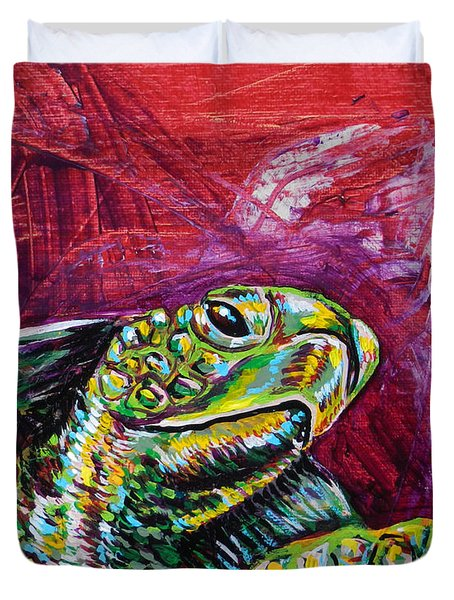 Red Turtle Duvet Cover by Lovejoy Creations