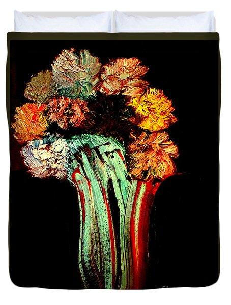 Red Vase Revisited Duvet Cover