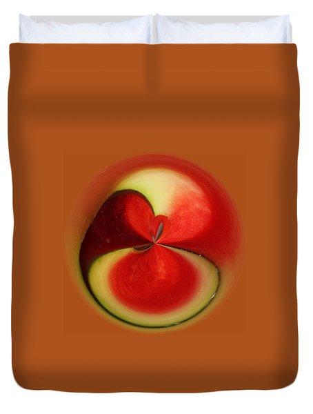 Red Watermelon Duvet Cover by Cynthia Guinn