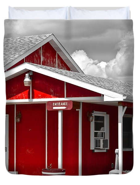 Red White And Black Duvet Cover by Frozen in Time Fine Art Photography