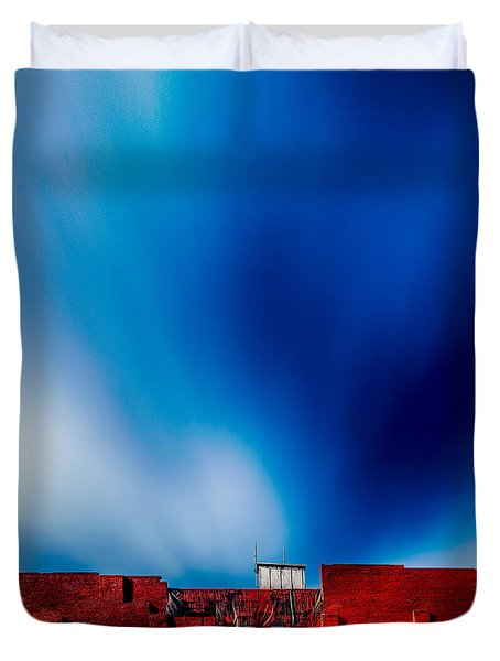 Red White And Blue Duvet Cover by Bob Orsillo