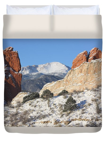 Red White And Blue Duvet Cover by Eric Glaser