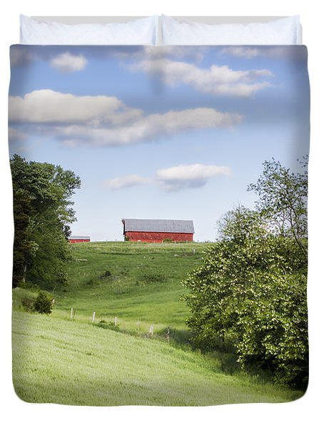 Red White And Blue Duvet Cover by Heather Applegate