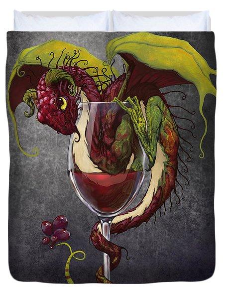 Red Wine Dragon Duvet Cover
