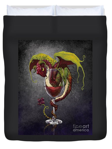 Red Wine Dragon Duvet Cover