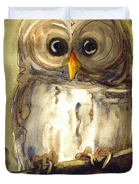 Redbird Cottage Owl Duvet Cover