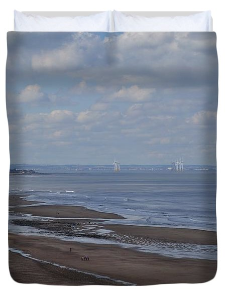 Redcar From A Distance Duvet Cover
