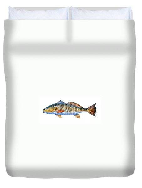 Redfish Duvet Cover by Carey Chen