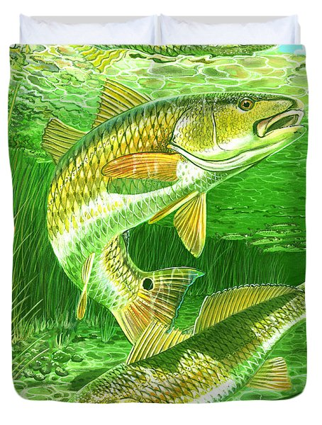 Redfish Haven In0018 Duvet Cover by Carey Chen