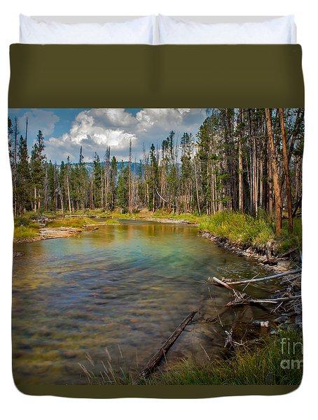 Redfish Lake Creek Duvet Cover by Robert Bales