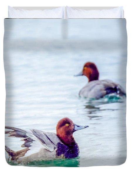 Redhead Ducks Duvet Cover