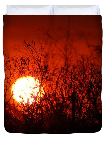 Redorange Sunset Duvet Cover by Matt Harang