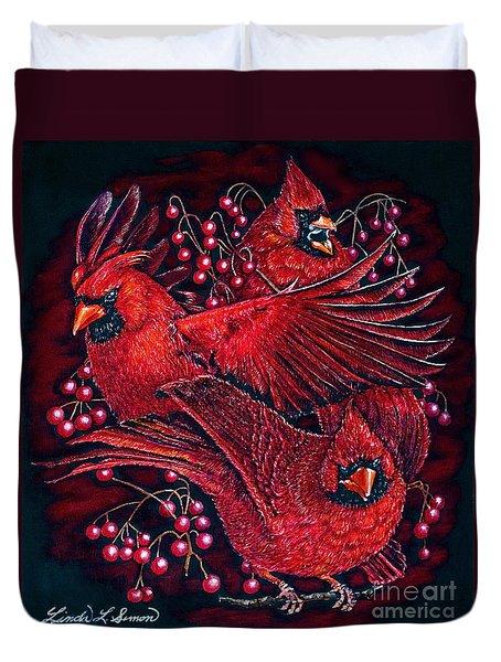 Reds Duvet Cover by Linda Simon