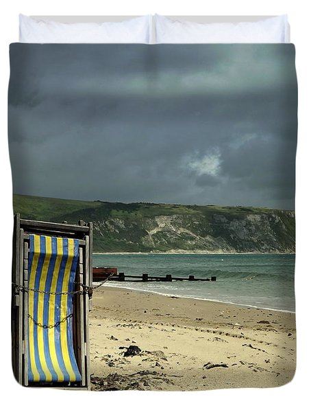 Redundant Deck Chairs Duvet Cover by Linsey Williams