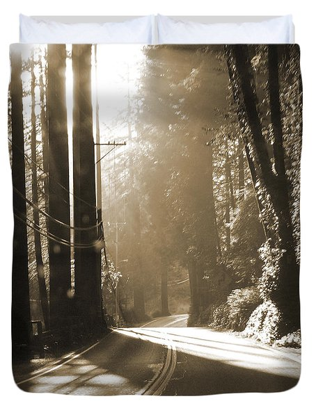 Redwood Drive Duvet Cover by Mike McGlothlen