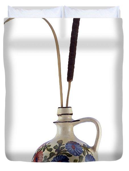 Reed In The Vase Duvet Cover by Michal Boubin
