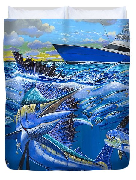 Reef Sail Off00151 Duvet Cover by Carey Chen