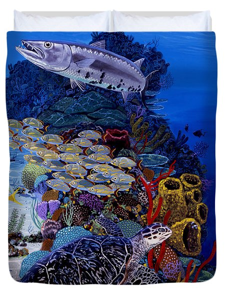 Reefs Edge Re0025 Duvet Cover by Carey Chen