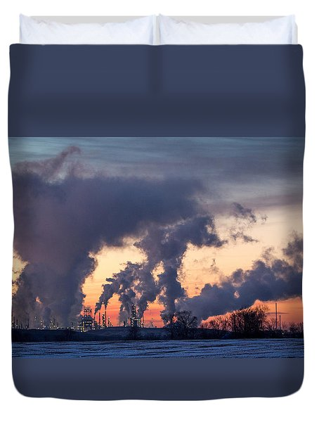 Flint Hills Resources Pine Bend Refinery Duvet Cover by Patti Deters