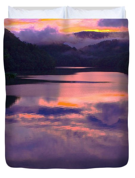 Reflected Sunset Duvet Cover