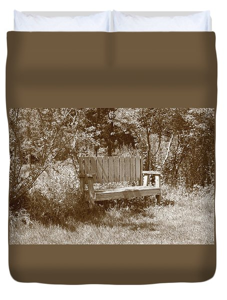 Reflecting Bench Duvet Cover