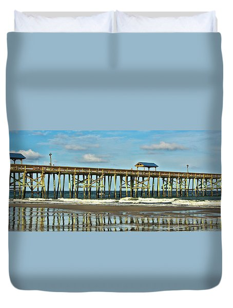 Reflection Pier Duvet Cover