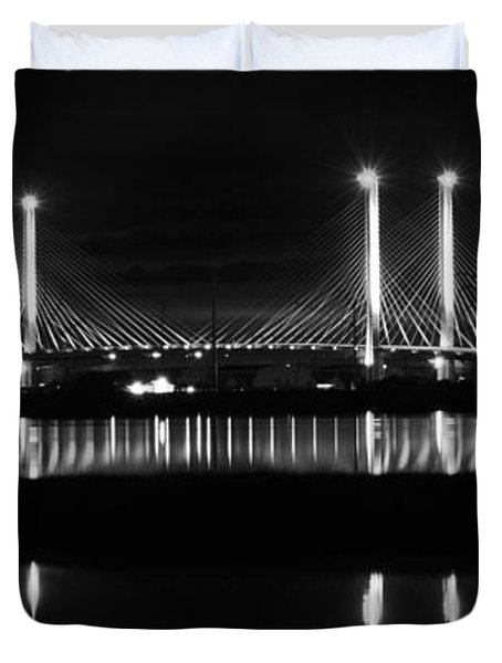 Reflecting Bridge Duvet Cover