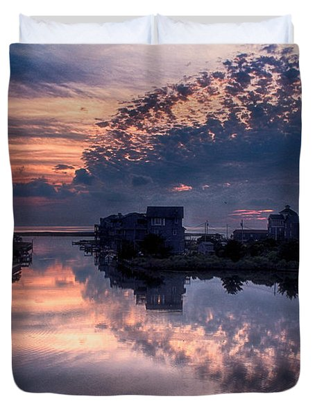 Reflecting On North Carolina Duvet Cover by Tony Cooper