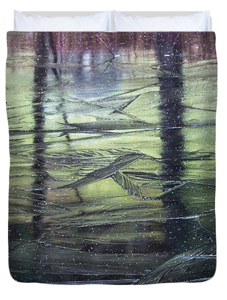 Reflecting On Transitions Duvet Cover by Mary Amerman